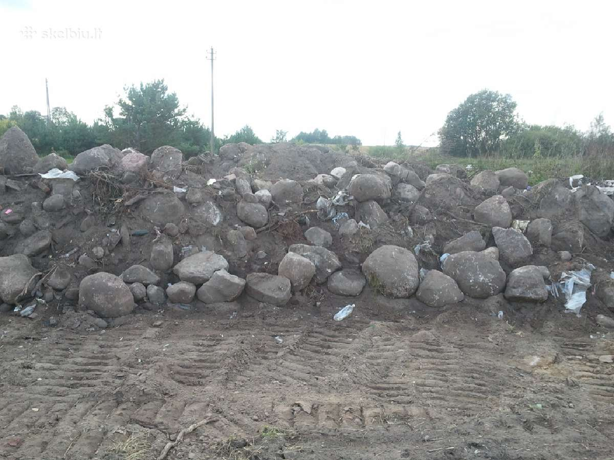 Akmenys ivairiu dydziu