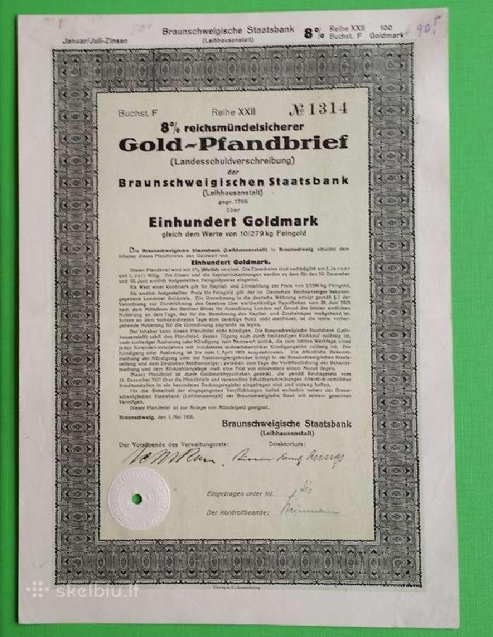 100 Goldmark 1928 m.