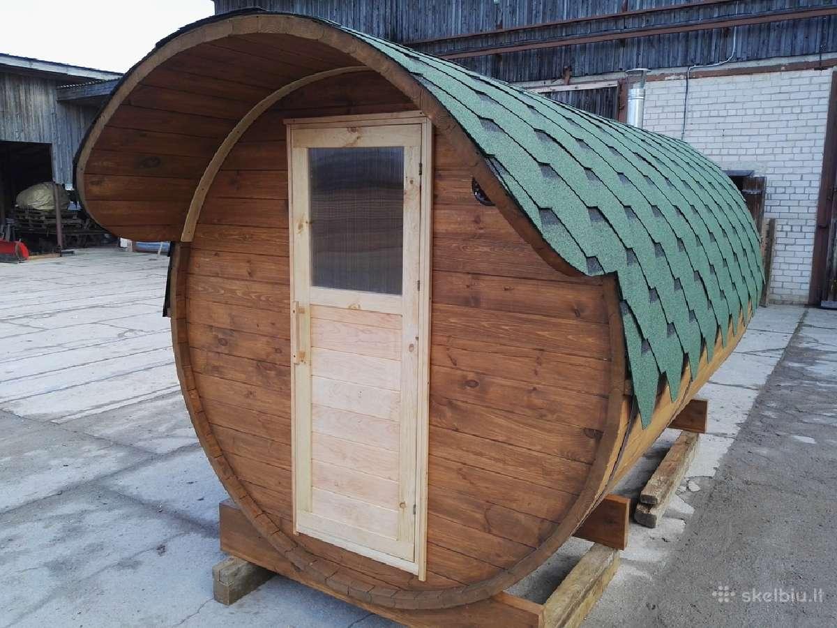 Mobili Pirtis backa, apvali sauna