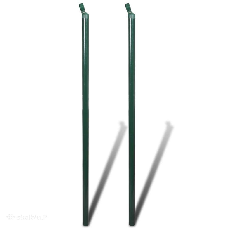 2 Atraminiai Tvoros Stulpai 150 cm - vidaxl