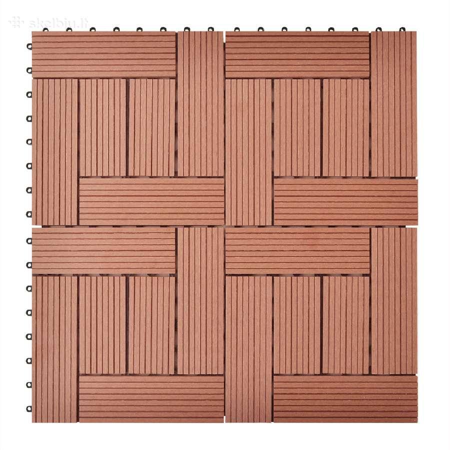 Rudos Terasinės Plytelės, 1 m2 - vidaxl