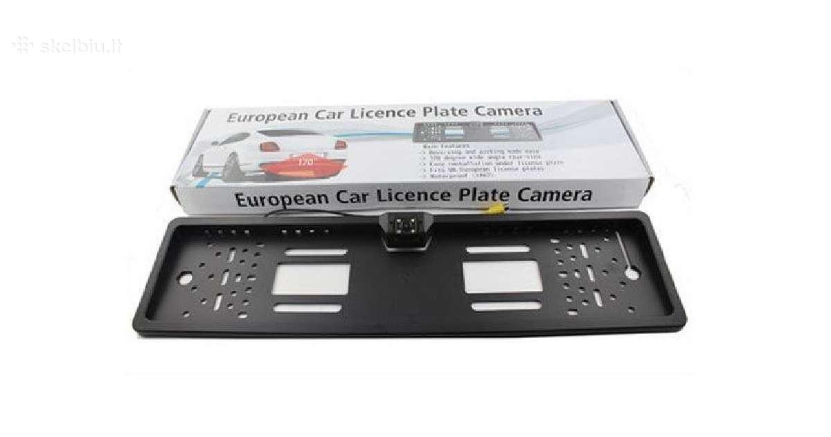 Galinio vaizdo parkavimosi kamera numerio rėmelyje