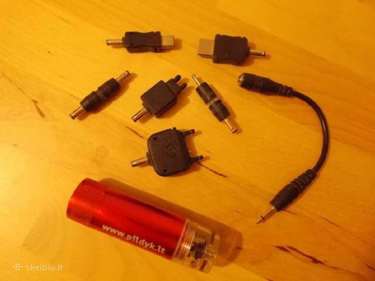Telefonų įkroviklis iš baterijos