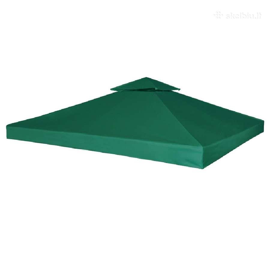 Neperšlampamas Pavėsinės Stogas, Žalias 3x3m