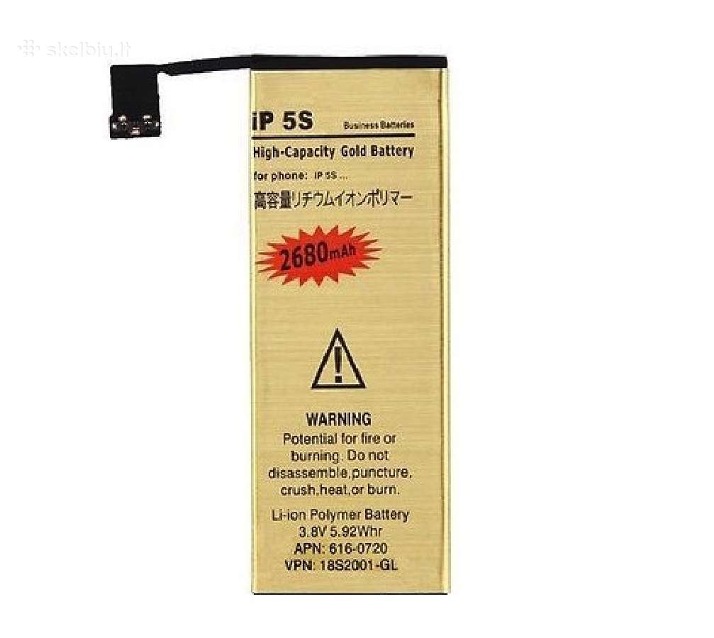 iPhone 5S padidintos talpos baterija