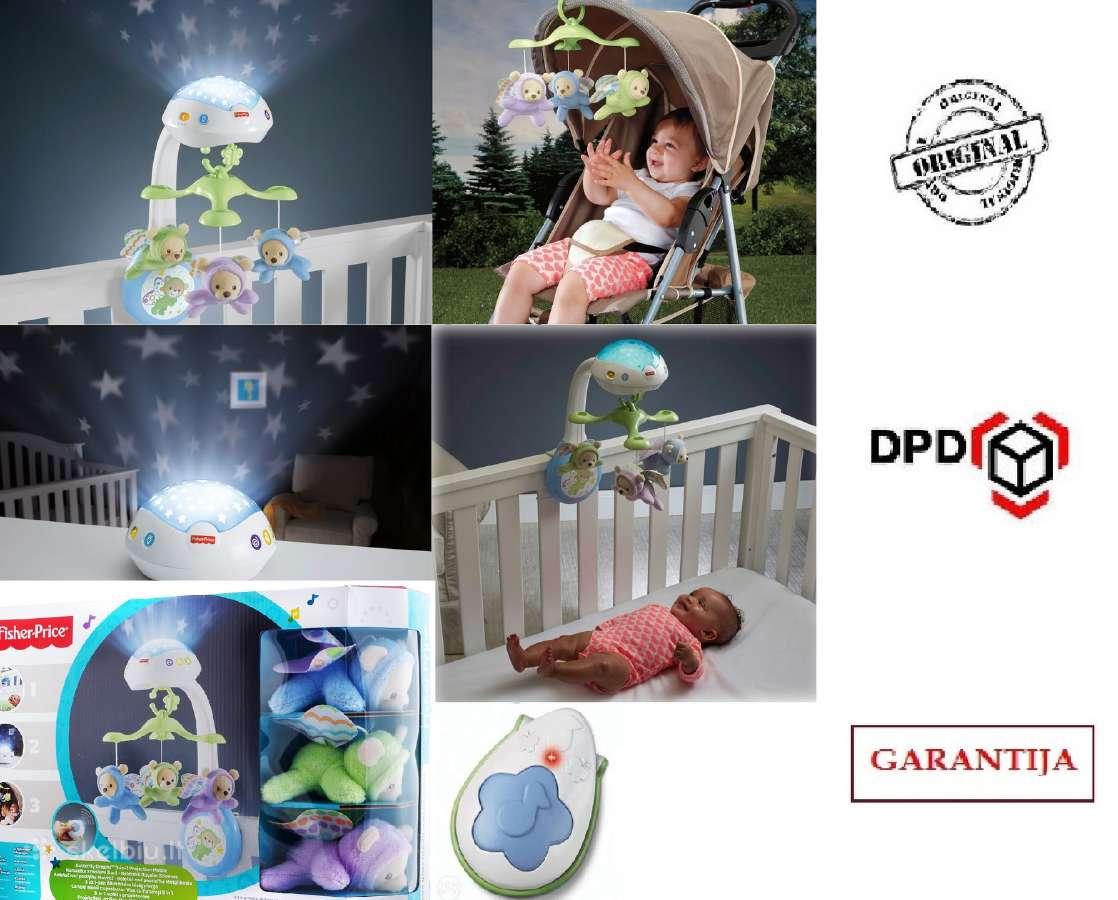 Akcija Naujos Fisher Price karuselės, su garantija