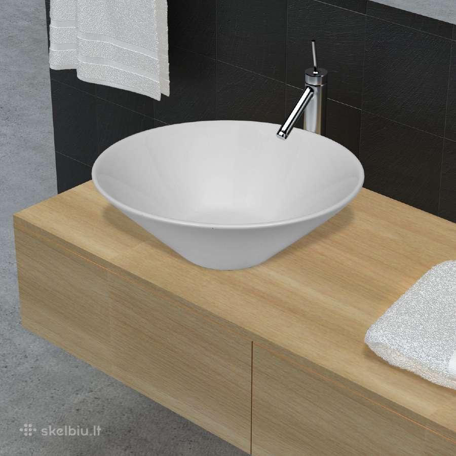 Dubens Formos Vonios Kambario Praustuvas, vidaxl