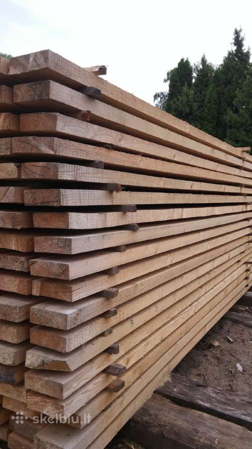 Parduodu įv. išmatavimų statybinę medieną.