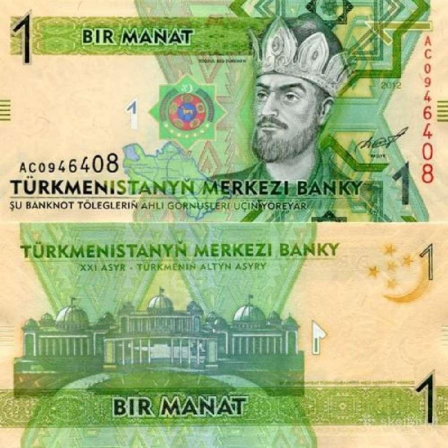 Turkmėnija 1 Manat 2014m. P29b Unc