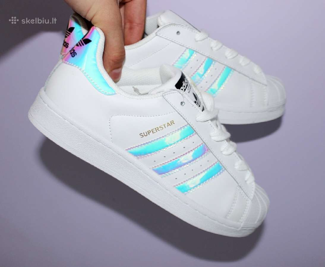 Adidas Superstar Balti Vietoje Holograminiai