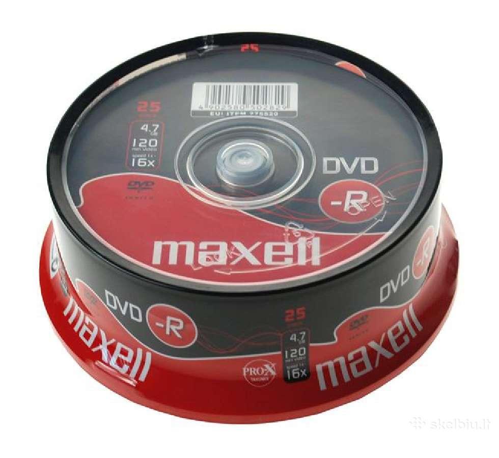 Dvd-r Maxell diskai po 25vnt.