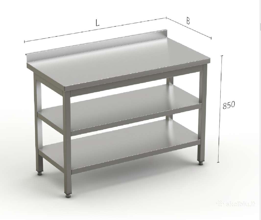 Nerūdijančio plieno virtuvės baldai.
