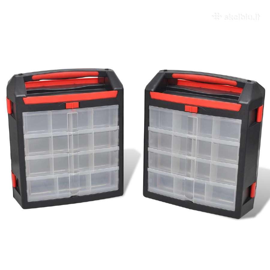 2 Įrankių Dėžės, Lagaminai, vidaxl