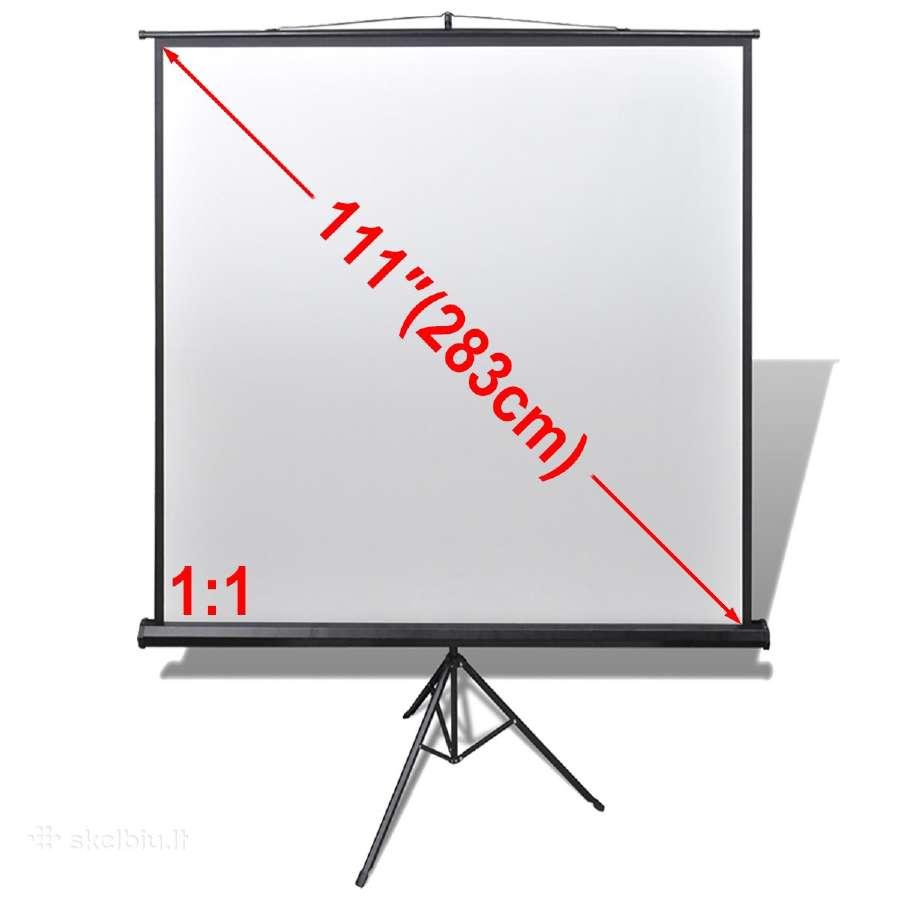 Projektoriaus Ekranas su Stovu, 200 x 200 cm, 1:1