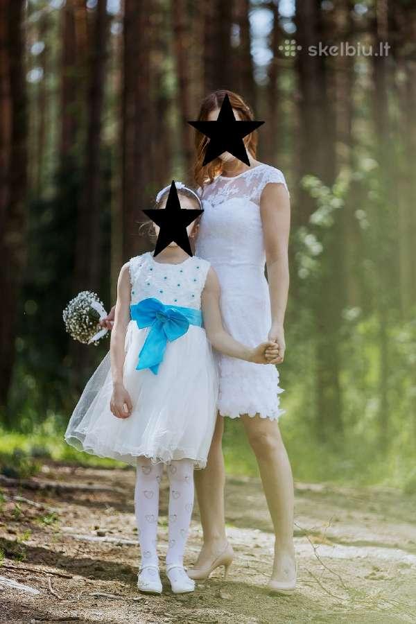 Trumpa vestuvinė balta