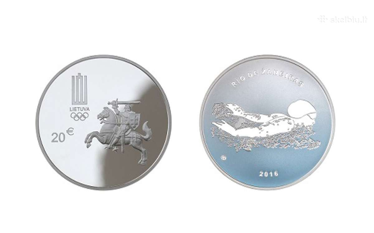 20 Eur - Xxii olimpinėms žaidynėms Rio De Žaneire