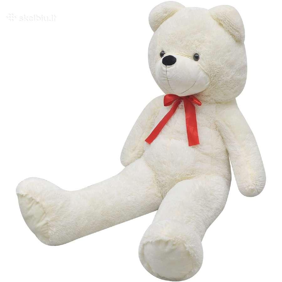 Minkštas baltas pliušinis meškinas, 175 cm, vidaxl