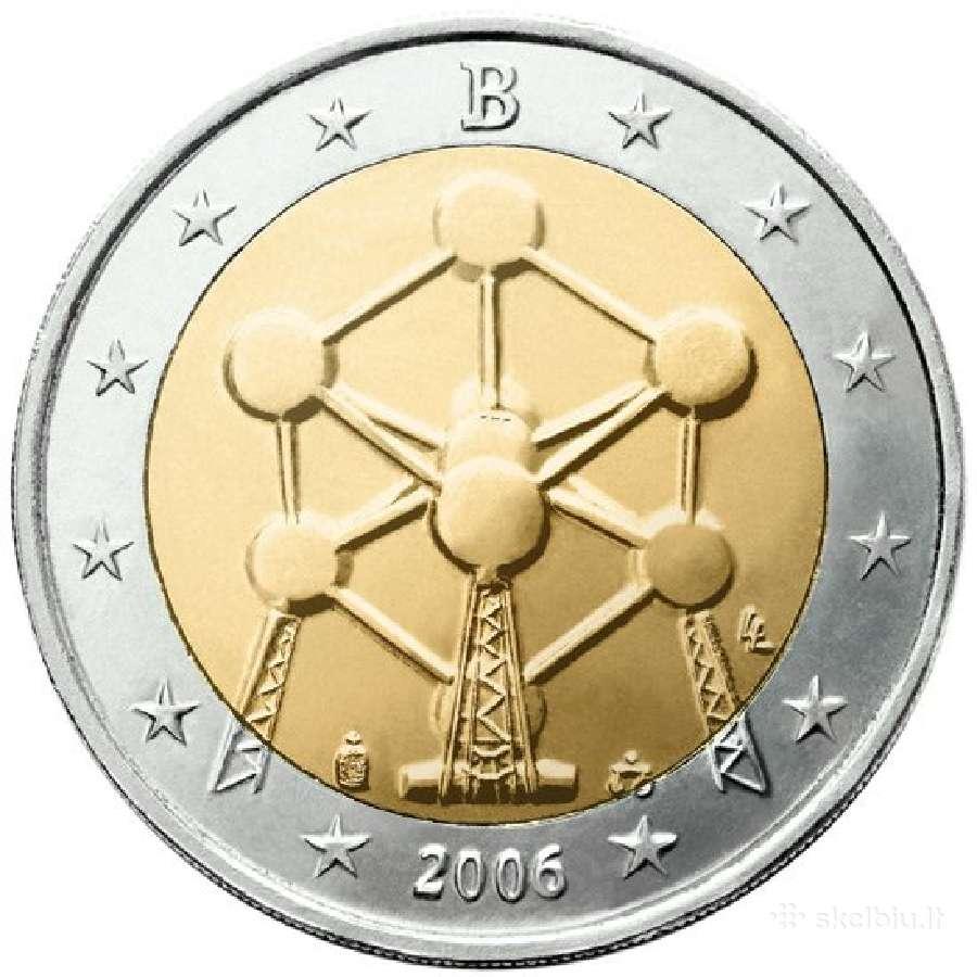 Belgija 2 euro monetos Unc