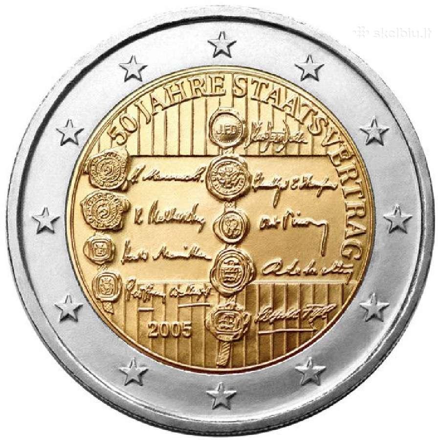 Austrija 2 euro monetos Unc