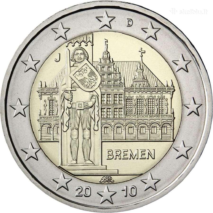 Vokietija 2 euro 2010 Bremen Adfgj