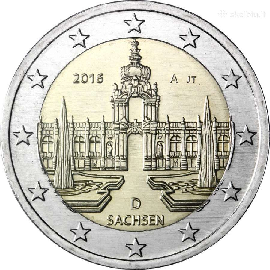 Vokietija 2 euro 2016 Sachsen Adfgj
