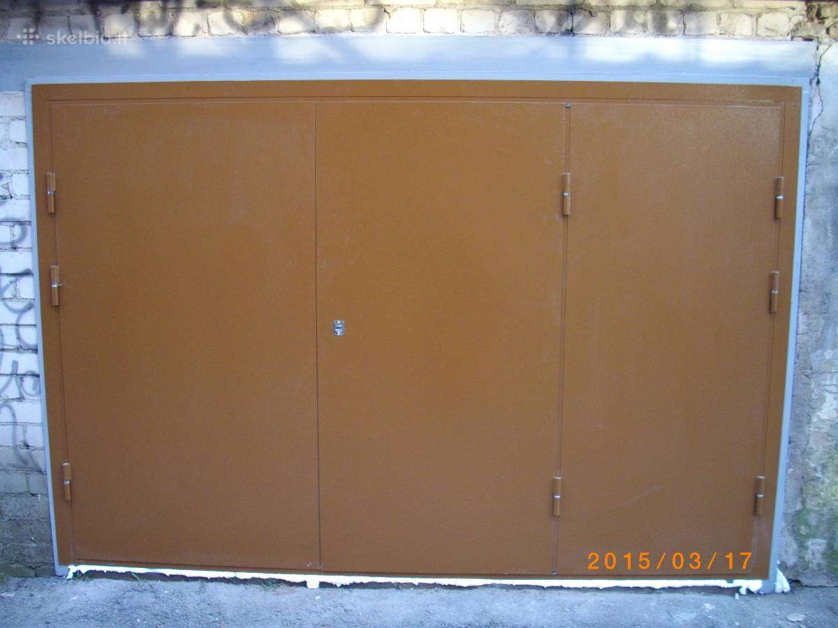 Metaliniai Garazo vartai, sandeliuko durys, sarvuo