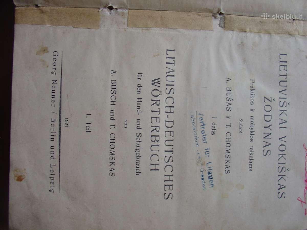 Lietuviškai Vokiškas Žodynas