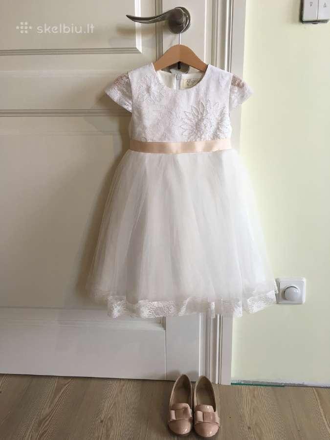 Puošni krikšto/pamergės suknelė 3-4 m. mergaitei