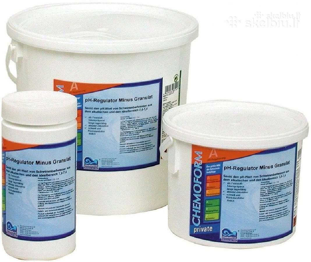 Baseinu chemija,chemikalai baseinui, chloras,hth