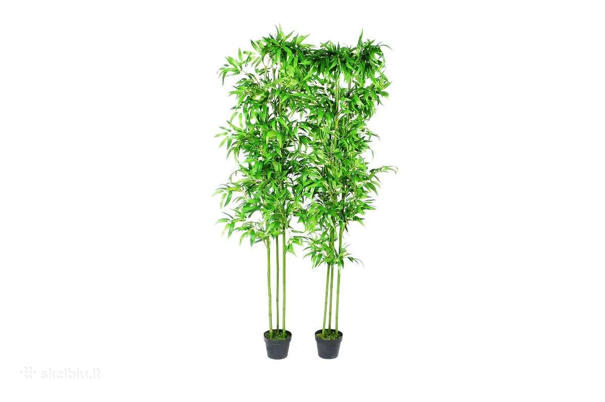 2 Dirbtiniai Bambukai Namų Dekorui 190 cm ,75 €