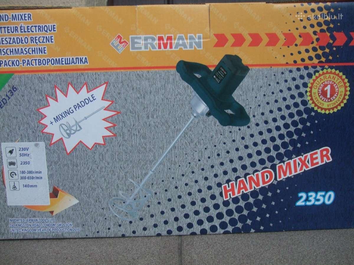 Statybinių klijų,betono maišytuvai Erman Em-ed 136
