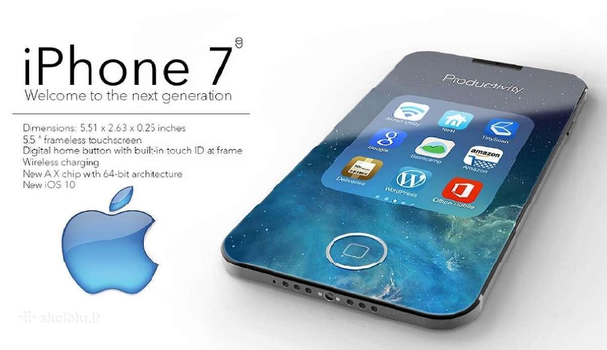 Apple iPhone 7 32gb/128gb/256 naujas europinis