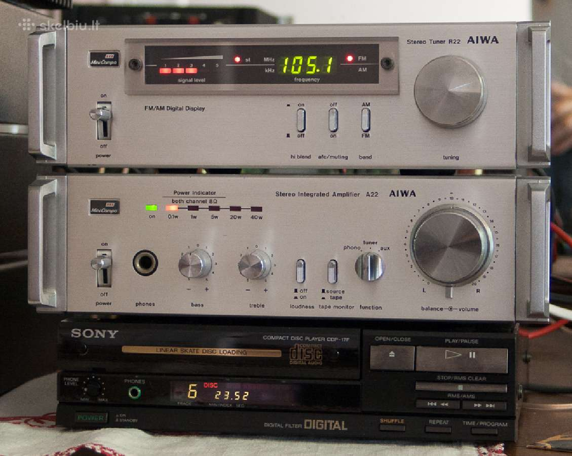 Sony.telefunken, aiwa. retro audio centras. japan.