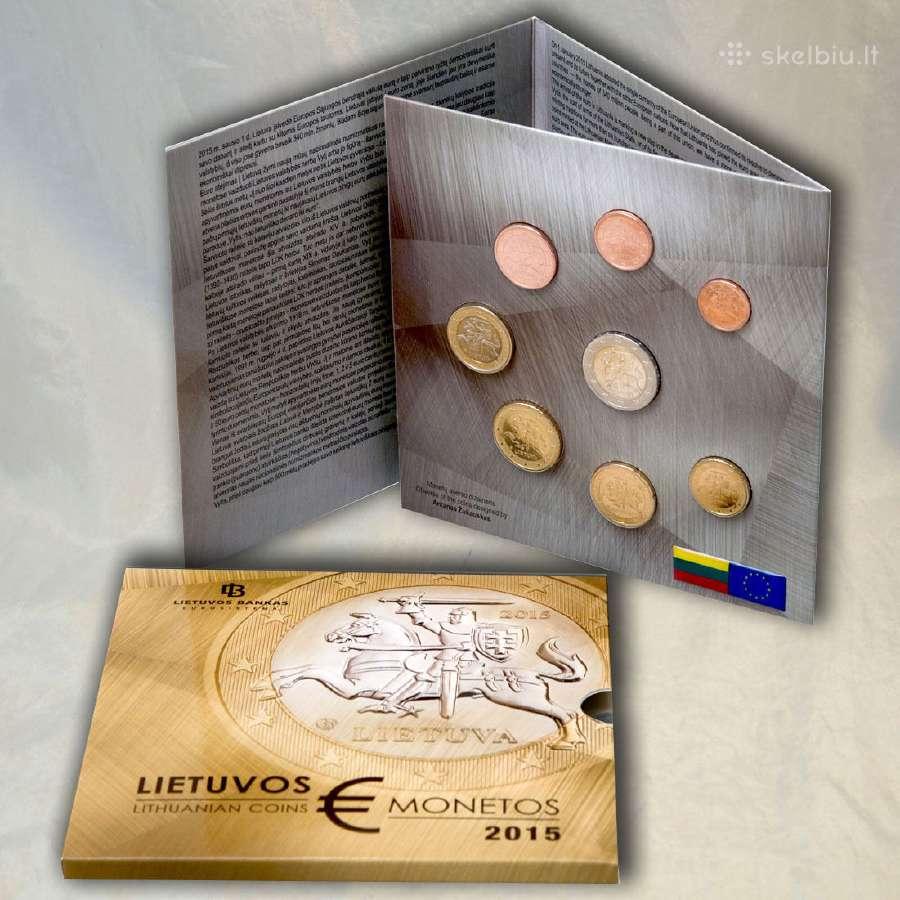 Lietuva 2015 euro rinkinys 1ct - 2 euro (Bu)