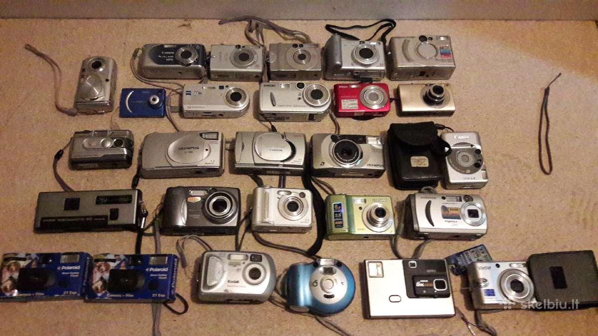 Skaitmeniniai fotoaparatai,pakrovejai,baterijos.