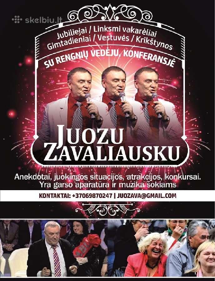 Juozas Zavaliauskas-renginių vedėjas -organizator.