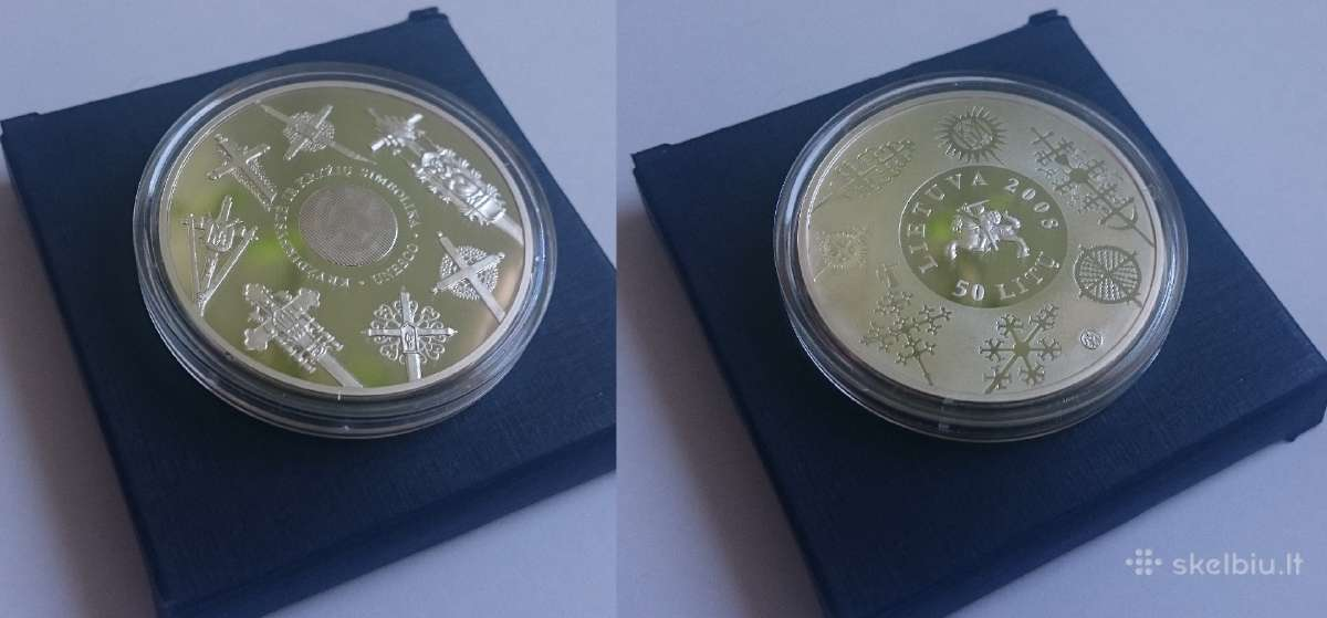 2008 metų 50 litų moneta Kryždirbystė, Kryžiai