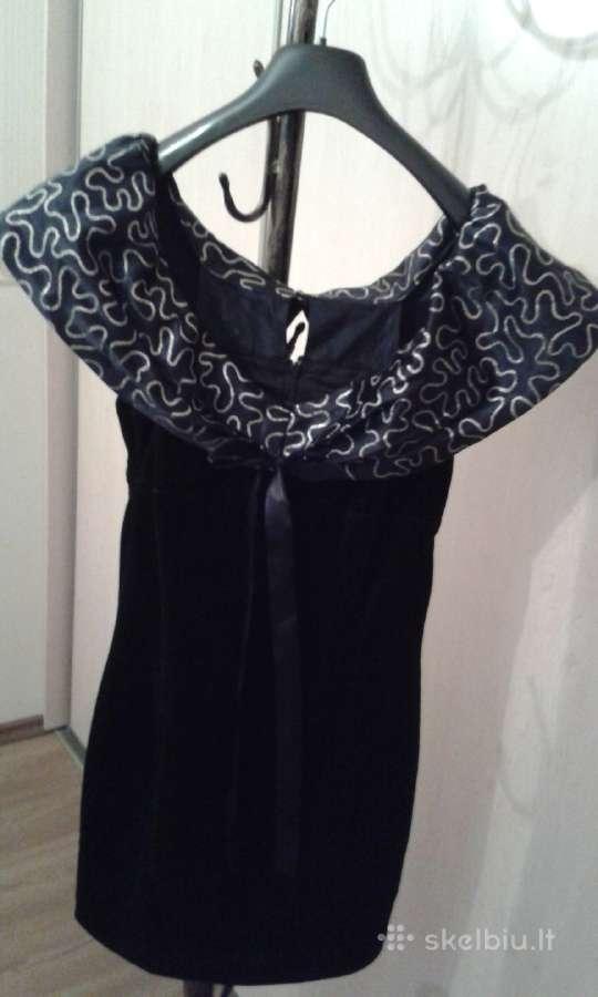 Mini aksominė suknelė