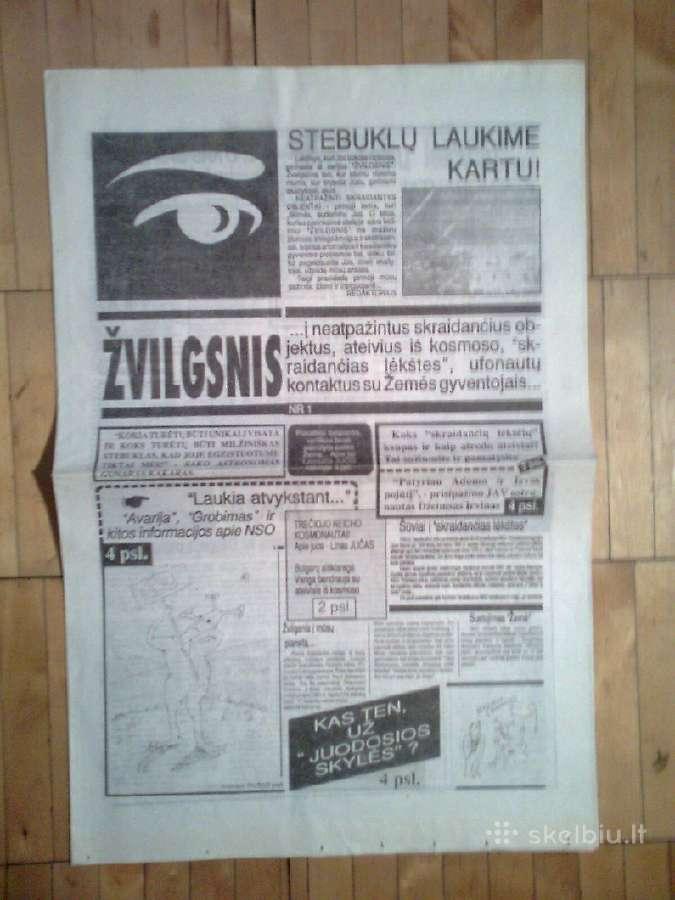 Laikrastis <Zvilgsnis> apie Nso 1990m.