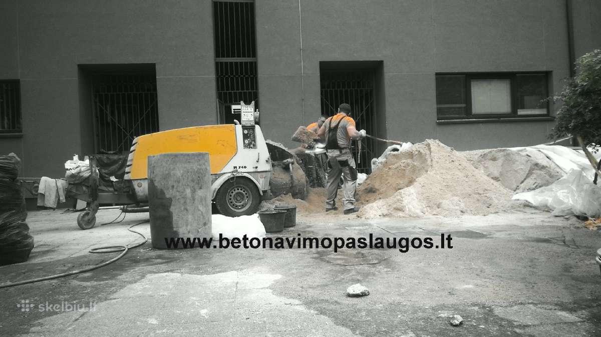 Grindu paruosimas ir betonavimas