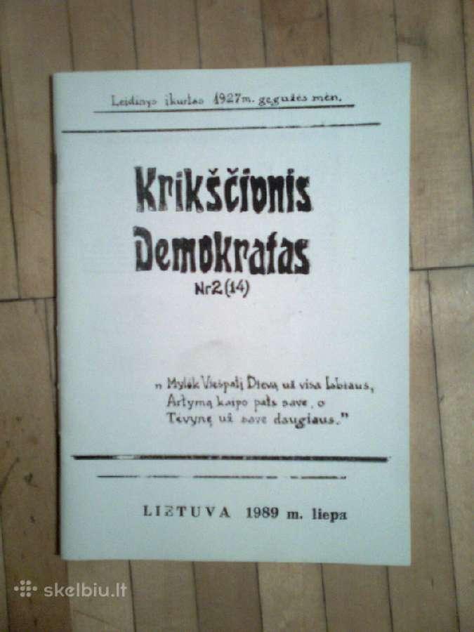 Leidinys <Krikscionis demokratas> 1989m. 2 nr.