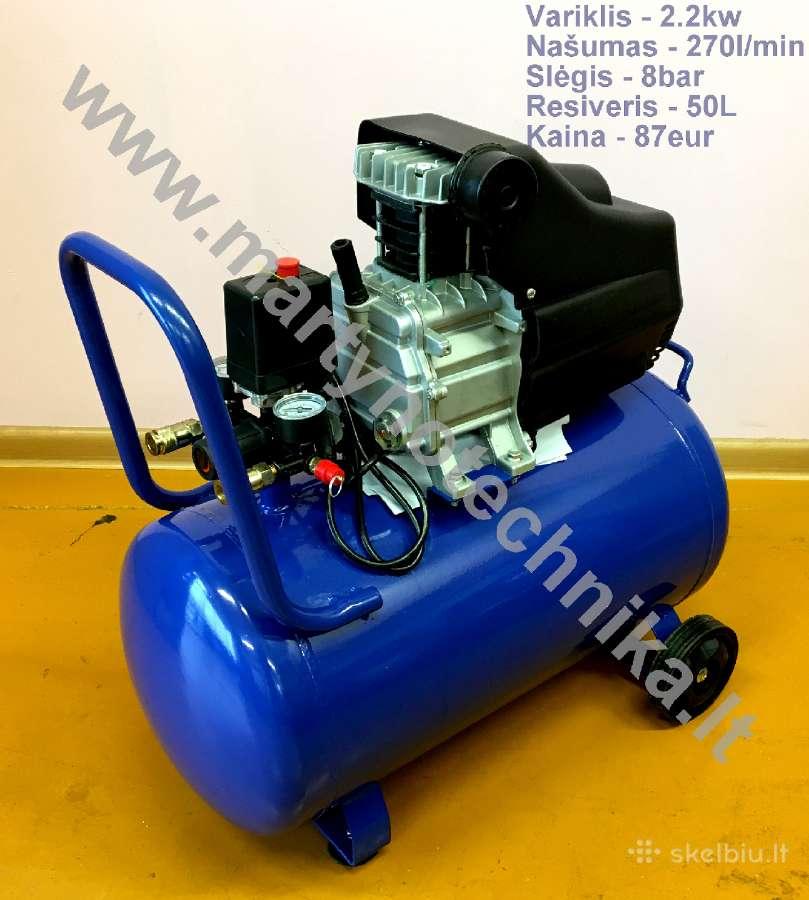 Oro kompresorius 1cilindras/50l 270l/min
