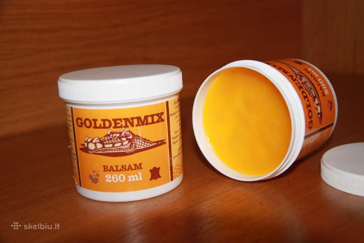 Goldenmix- balzamas odiniams baldams ir kt.