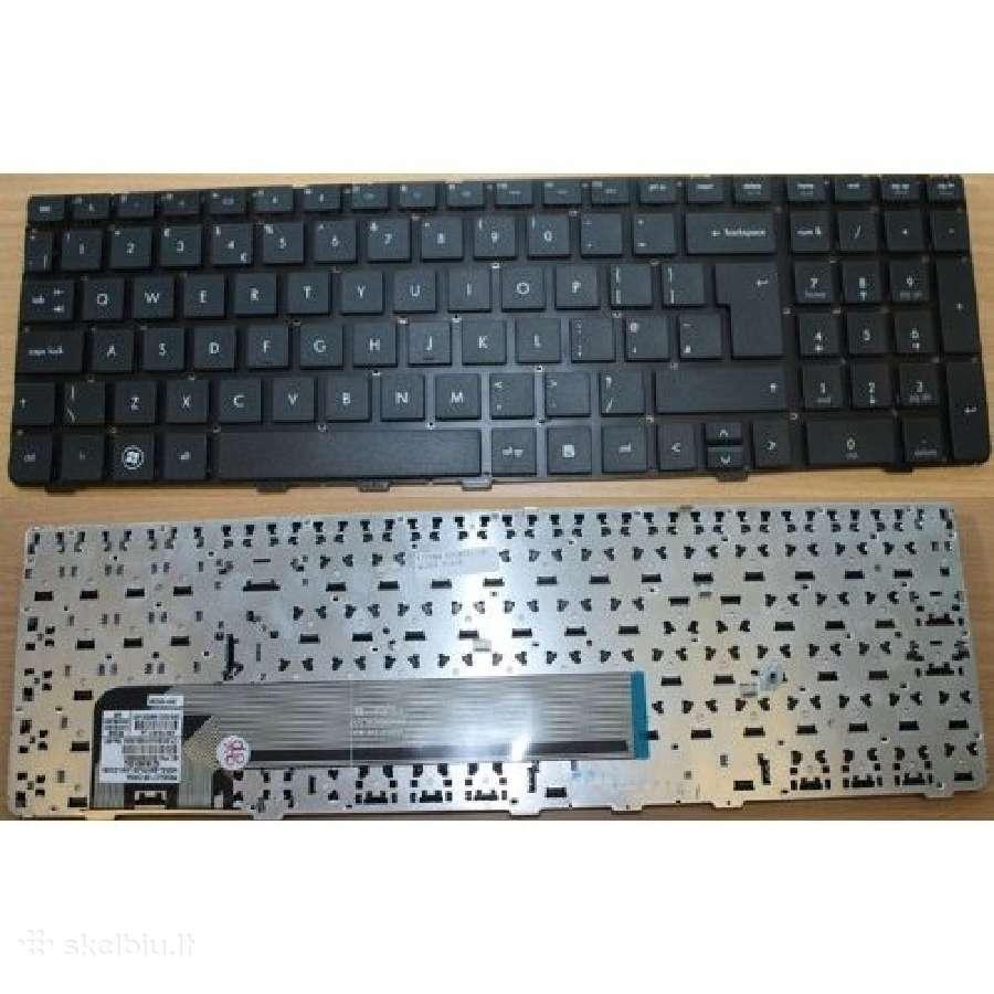 Nesiojamu kompiuteriu klaviaturos dalimis