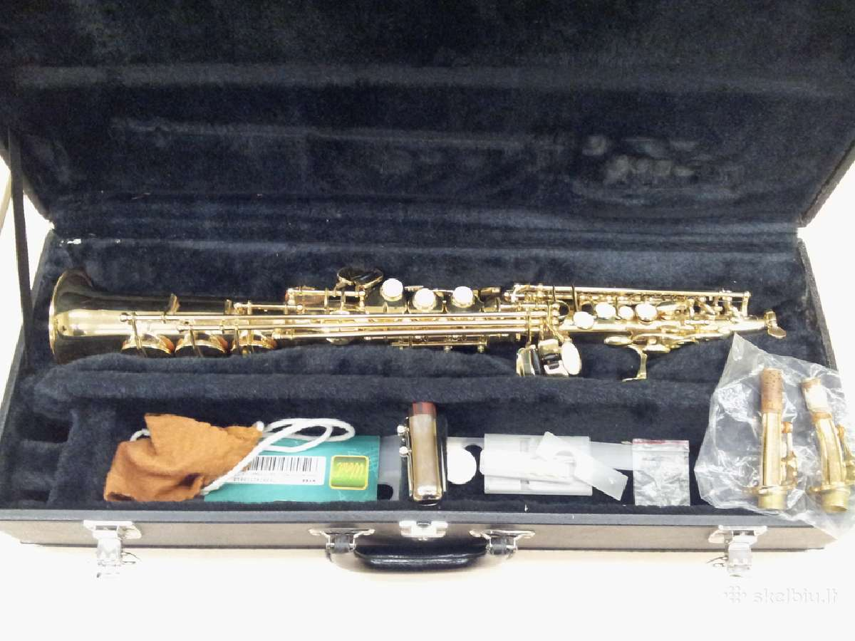 Sopraninis saksofonas su geru berg larsen pustuku