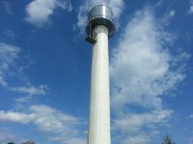 Aukštuminiai statybų darbai-vandens bokštų dažymas