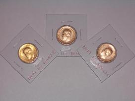 Perku nikolajaus ii-jo auksines monetas