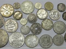 Perku viso pasaulio sidabrines monetas