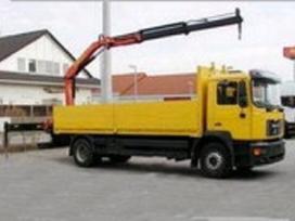 Krovinių pervežimas su Fiskar kranais iškrovimas