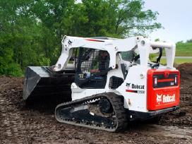 Bobcat nuoma , ekskavatorių nuoma , žemės darbai